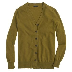 Jcrew long v-neck cardigan cashmere wool sweater